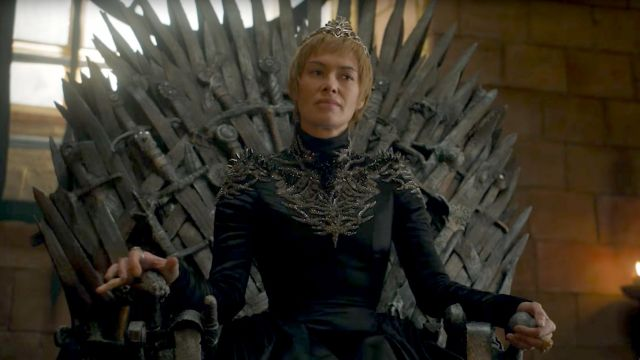 The costume of Cersei Lannister (Lena Headey) in Game of Thrones S07E03
