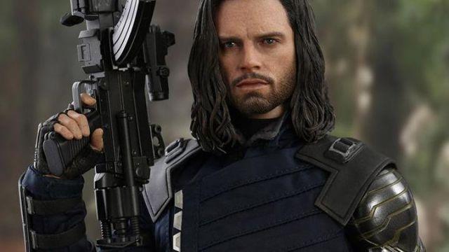 Bucky Barnes Blue Avengers Infinity War Jacket of Bucky Barnes / Winter Soldier (Sebastian Stan) in Avengers: Infinity War