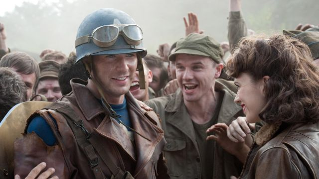 Vintage Leather Military Jacket worn by Steve Rogers (Chis Evans) as seen in Captain America: The First Avenger