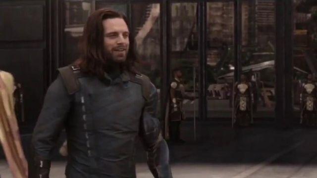 Leather Jacket worn by Bucky Barnes / Winter Soldier (Sebastian Stan) as seen in Avengers: Infinity War