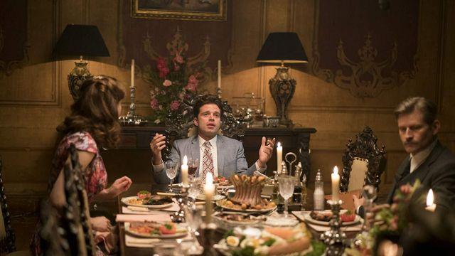 Printed Tie worn by Charles Blackwood (Sebastian Stan) in We Have Always Lived in the Castle
