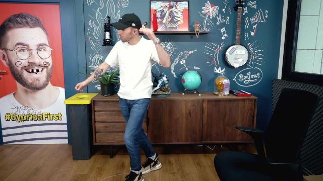 Les sneakers Nike Jordan Proto-Max 720 portées par Squeezie dans sa vidéo YouTube J'ai changé d'avis sur Tik Tok