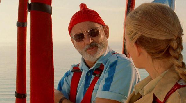 Sunglasses aviator AO Eyewear of Steve Zissou (Bill Murray) in The life aquatic