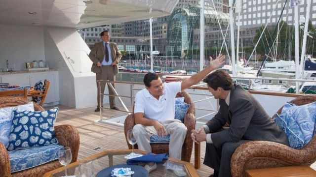 The Yacht, The Lady M Jordan Blefort (Leonardo DiCaprio) in The wolf of Wall Street