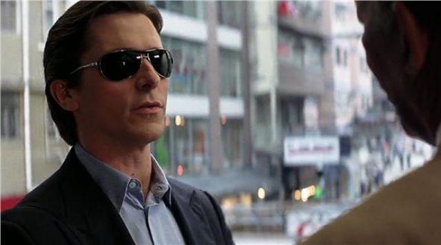 Sunglasses Ray-Ban Bruce Wayne (Christian Bale) in The Dark Knight