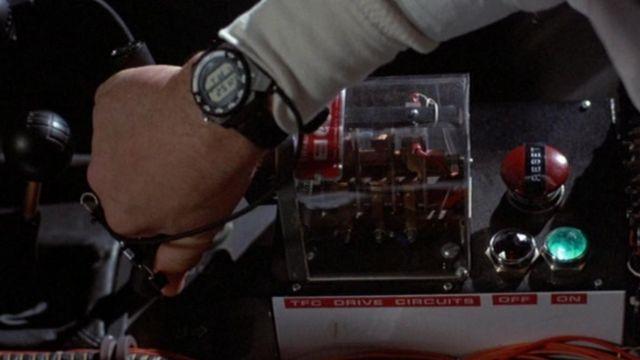 La montre Seiko A826 du Doc Brown (Christopher Lloyd) dans Retour vers le futur