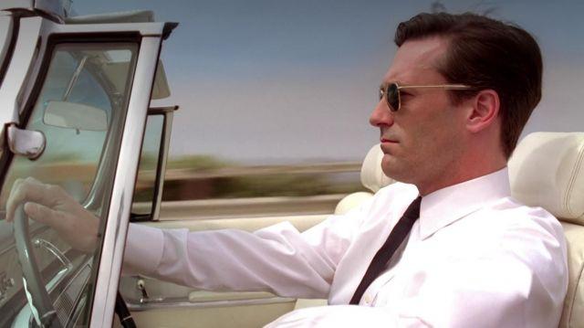Les lunettes de soleil Randolph de Don Draper (Jon Hamm) dans Mad Men S04E03