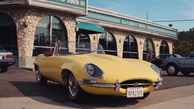 The Jaguar E-Type yellow of Jordan Belfort (Leonardo DiCaprio) in The Wolf of Wall Street