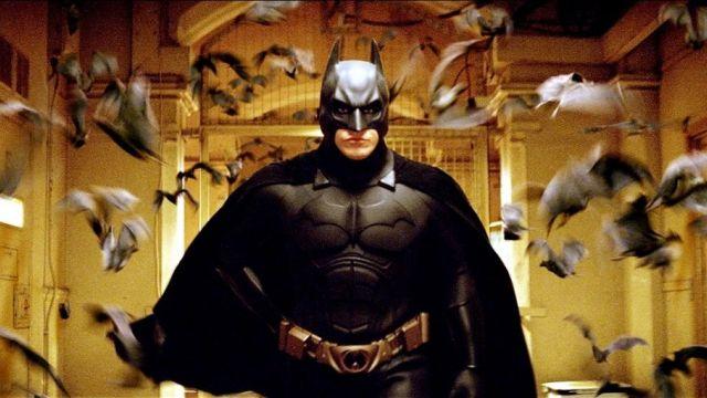 The costume of Batman (Christian Bale) in Batman Begins