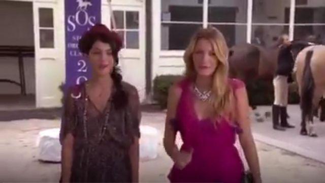 Presley Skye Ruffle Appliques Robe dos nu en Soie porté par Serena van der Woodsen (Blake Lively) dans Gossip Girl (S06E04)