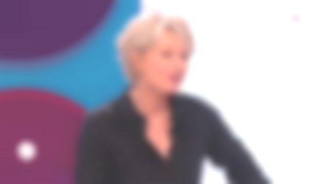 La chemise noire imprimée de Sophie Davant dans C'est au programme du 17/05/2019