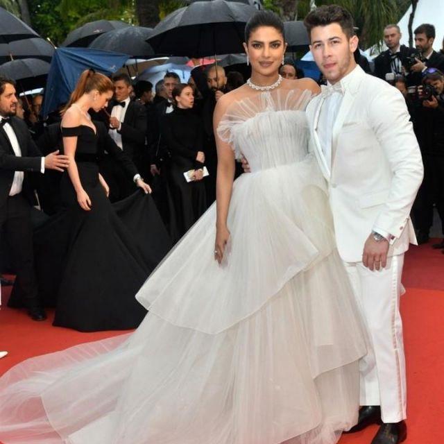 Georges Hobeika Bridal Dress worn by Priyanka Chopra at 2019 Cannes Film Festival