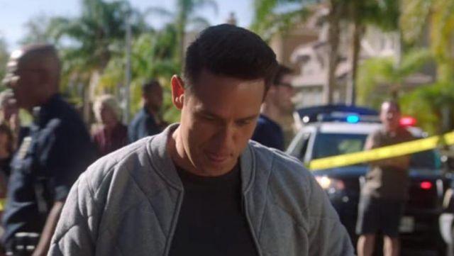 Grey Bomber jacket worn by Dan Espinoza (Kevin Alejandro) in Lucifer (S03E13)