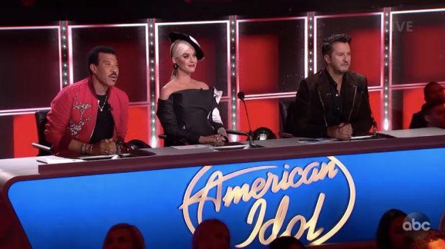 Ronald van der Kemp Custom Black Polka Dot Gown worn by Katy Perry on American Idol May 2019
