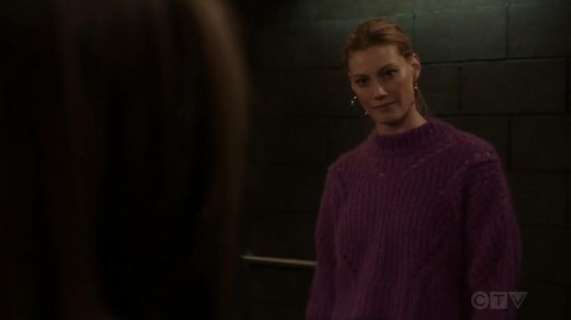 Isabel Marant Mohair & Wool Blend Crop Sweater worn by Alyssa Sutherland in Law & Order: Special Victims Unit (S20E11)