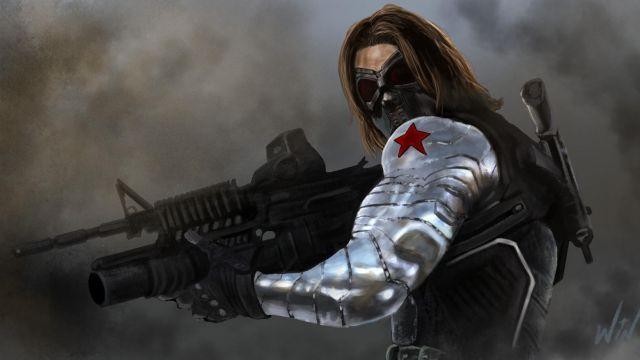 Bucky Silver Armor Leather Jacket