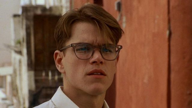 Glasses of view of Tom Ripley (Matt Damon) in The Talented Mr Ripley