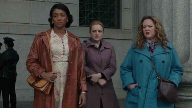 Purple Trench Coat worn by Claire Walsh (Elisabeth Moss) in The Kitchen