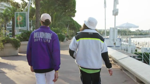 La veste Billionaire Boys Club portée par Charles Vicomte dans le clip Champagne & Pérou de Lorenzo