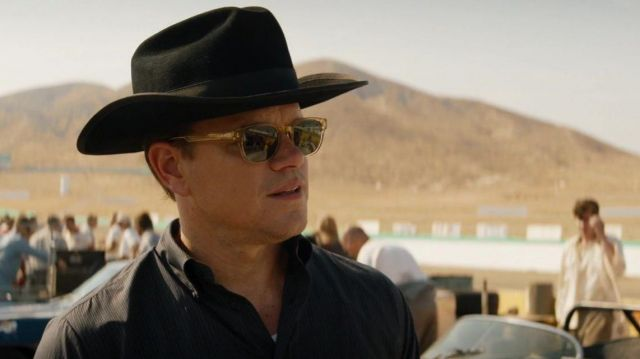 The black hat way cowboy of Carroll Shelby (Matt Damon) in Ford v. Ferrari