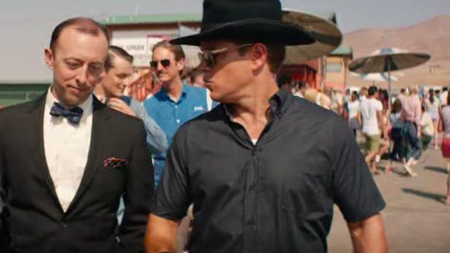 La chemise noire à manche courte de Carroll Shelby (Matt Damon) dans Ford v. Ferrari