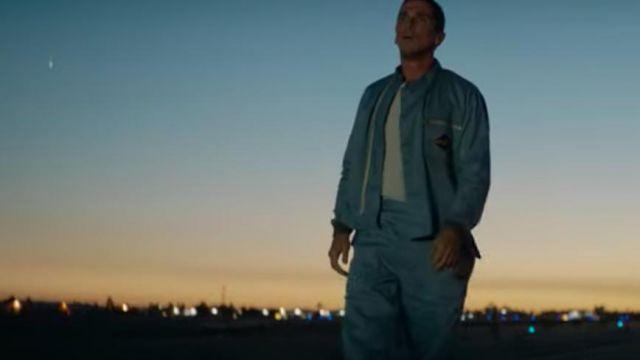 The bomber blue of Ken Miles (Christian Bale) in Ford v. Ferrari