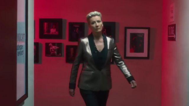 Metallic Blazer worn by Katherine Newbury (Emma Thompson) in Late Night