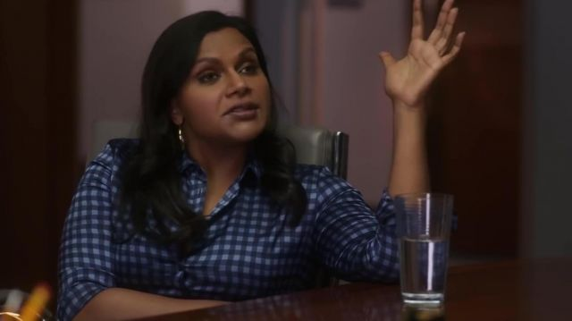 Blue Plaid Shirt Worn By Molly Patel Mindy Kaling In Late Night Spotern