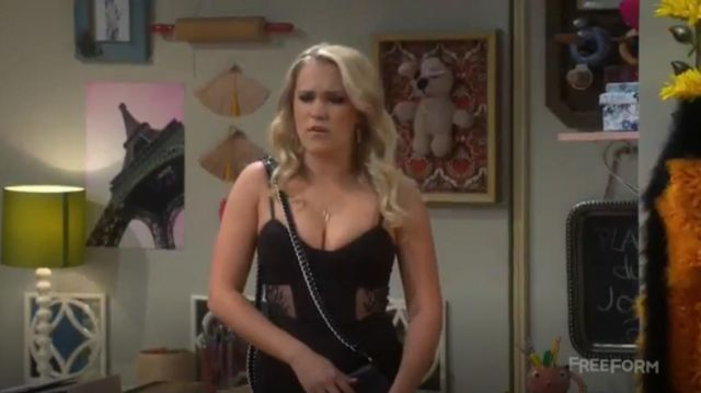 Black and lacework Dress worn by Gabi Diamond (Emily Osment