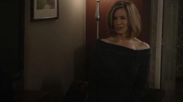 Sies Marjan Daphne Off-The-Shoulder Sweater worn by Anne Montgomery (Renée Zellweger) in WHAT / IF (S01E07)