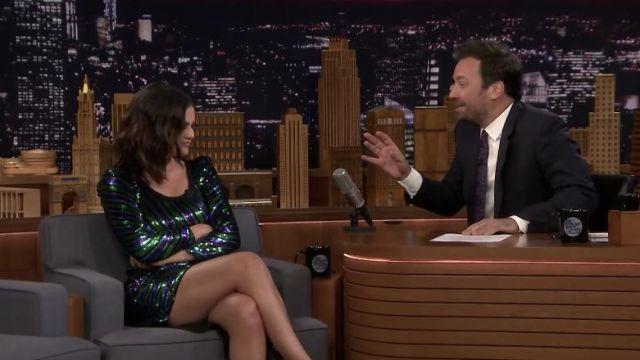Marc Jacobs, Le Disco Robe portée par Selena Gomez sur Le Tonight Show Starring Jimmy Fallon, le 11 juin 2019