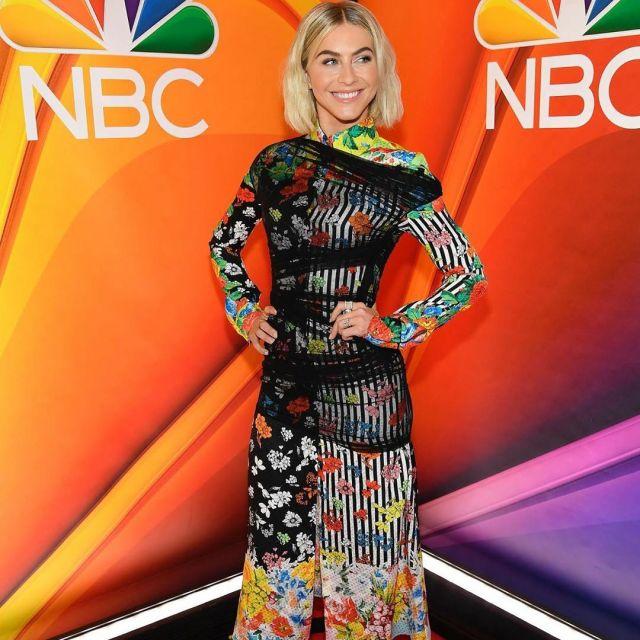 c296f6fc Versace Gypsy Print Silk Midi Shirt Dress worn by Julianne Hough on ...