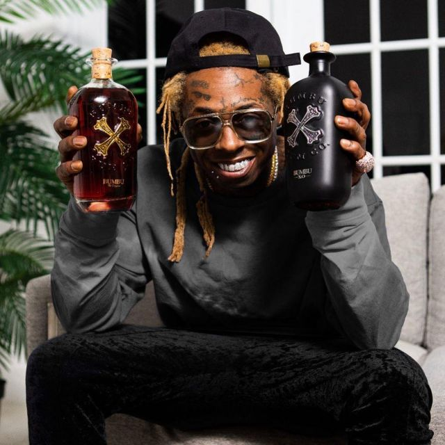 Bumbu Rum bottle shown by Lil Wayne on his Instagram account @liltunechi