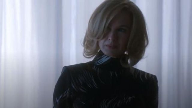 Givenchy Abstract Printed Blouse worn by Anne Montgomery (Renée Zellweger) in WHAT / IF (S01E09)