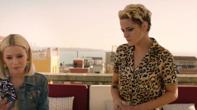 Animal print shirt Leopard worn by Sabina Wilson (Kristen Stewart) in Charlie's Angels