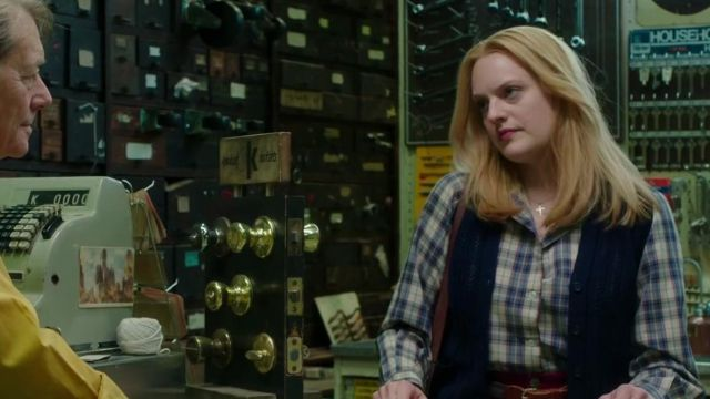 Blue Plaid Long Sleeve Shirt worn by Claire Walsh (Elisabeth Moss) in The Kitchen