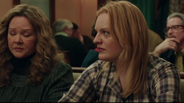 Plaid Long Sleeve Shirt worn by Claire Walsh (Elisabeth Moss) in The Kitchen