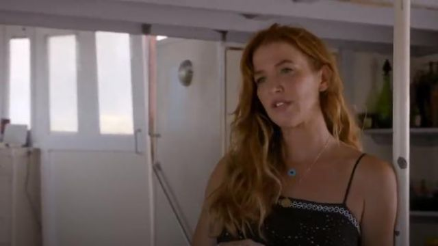 Jennifer Meyer Jewelry Lapis & Turquoise Evil Eye Necklace worn by Cat Chambers (Poppy Montgomery) in Reef Break (S01E01)