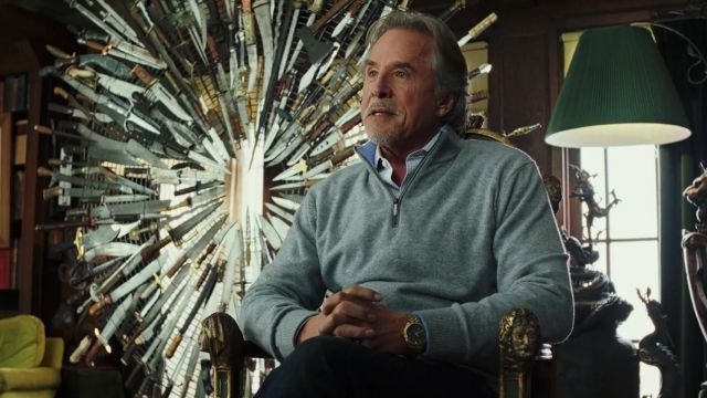 Gray Half Zip Up Jumper worn by Morris Bristow (Don Johnson) in Knives Out