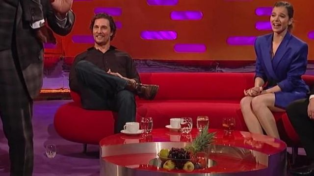 Deep Blue Straight Jeans worn by Matthew McConaughey in The Graham Norton Show 07/12/2018