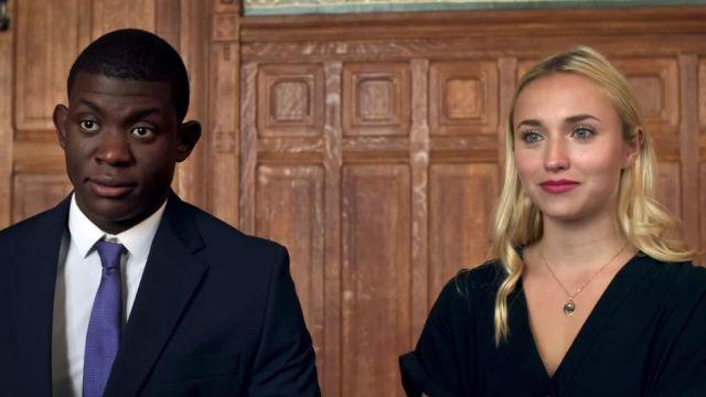 La robe chemise noire à manches courtes portée par Chloé Jouannet dans le clip À qui la faute ? de Kery James feat. Orelsan