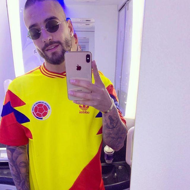 Hospitalidad Arbitraje Montañas climáticas  the jersey adidas Colombia worn by Maluma on his account Instagram @maluma    Spotern