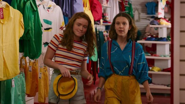 The striped t-shirt worn by Max Mayfield (Sadie Sink) in the