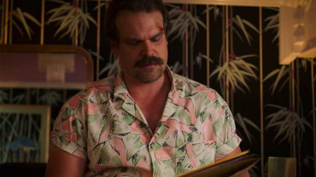 Pink and Green Shirt worn by Jim Hopper (David Harbour) as seen in Stranger Things Season 3 Episode 1