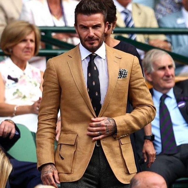Ralph Lauren Linen Sport Coat Worn By David Beckham Wimbledon July