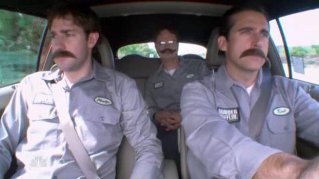 Grey Warehouse Uniform of Jim Halpert (John Krasinski) in The Office (Season 04 Episode 10)