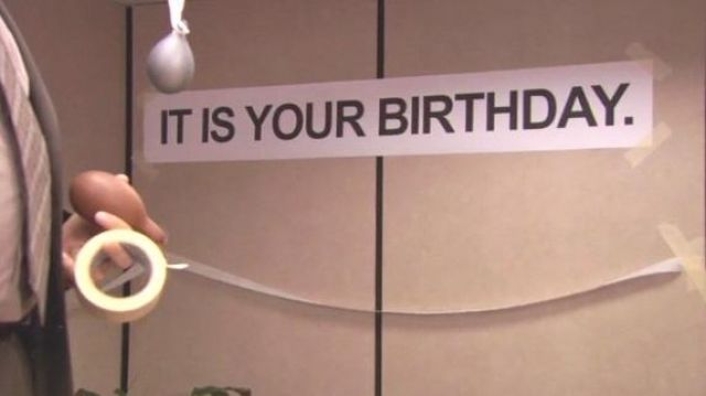 It Is Your Birthday.Banner It Is Your Birthday And Balloons As Seen In The