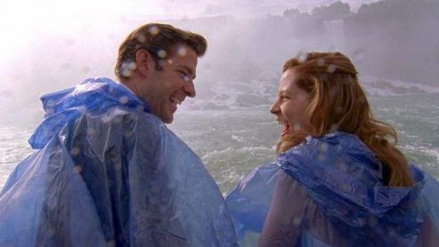 Blue Plastic Rain Poncho of Jim Halpert (John Krasinski) in The Office (Season 06 Episode 05)