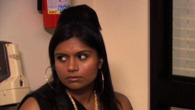 Gold Hoop Earrings of Kelly Kapoor (Mindy Kaling) in The Office (Season 07 Episode 06)