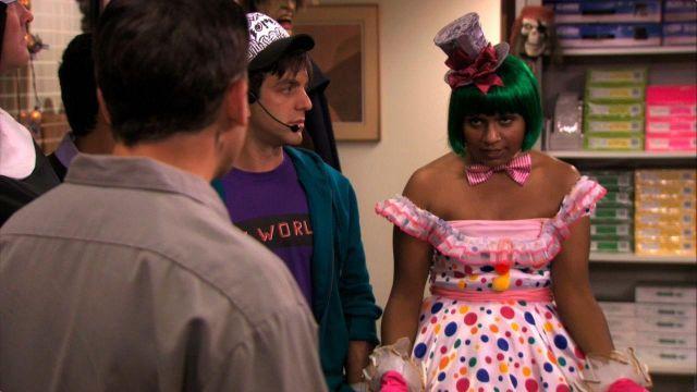 Polka Dot Dress of Kelly Kapoor (Mindy Kaling) in The Office (Season 07 Episode 06)